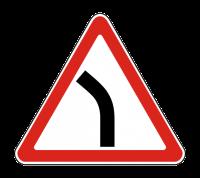 Знак 1.11.2 Опасный поворот