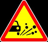 Знак 1.18 Выброс гравия (Временный)