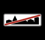 Знак 5.24.2 Конец населенного пункта