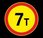 Знак 3.11 Ограничение массы (Временный)