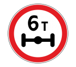 Знак 3.12 Ограничение массы, приходящейся на ось транспортного средства
