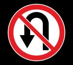 Знак 3.19 Разворот запрещен