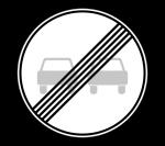 Знак 3.21 Конец запрещения обгона