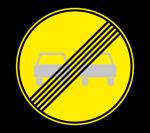 Знак 3.21 Конец запрещения обгона (Временный)