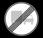 Знак 3.23 Конец запрещения обгона грузовым автомобилям