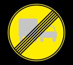 Знак 3.23 Конец запрещения обгона грузовым автомобилям (Временный)