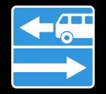 Знак 5.13.1 Выезд на дорогу с полосой для маршрутных транспортных средств