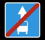 Знак 5.14.1 Конец полосы для маршрутных транспортных средств