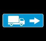 Знак 6.15.2 Направления для грузовых автомобилей